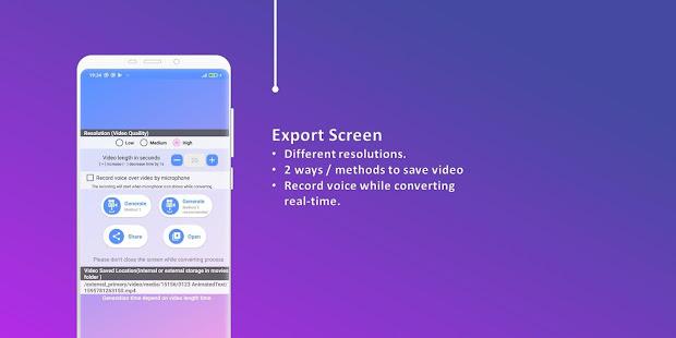 Animated Text Creator – Text Animation video maker v4.1.4 screenshots 6