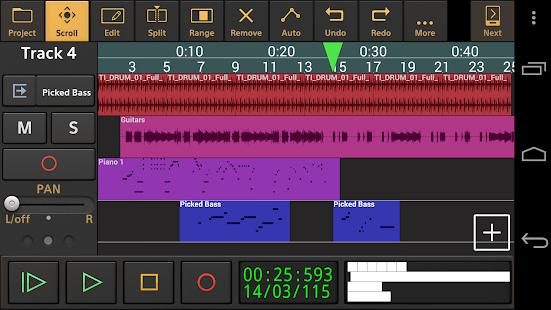 Audio Evolution Mobile Studio TRIAL v5.0.8.7 screenshots 1