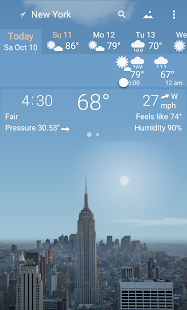 Awesome weather YoWindow live weather wallpaper v2.28.2 screenshots 1