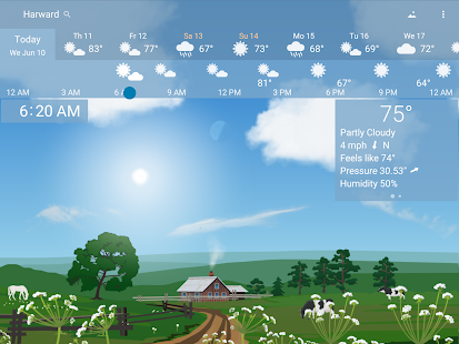 Awesome weather YoWindow live weather wallpaper v2.28.2 screenshots 14