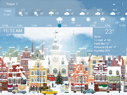 Awesome weather YoWindow live weather wallpaper v2.28.2 screenshots 16