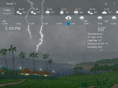 Awesome weather YoWindow live weather wallpaper v2.28.2 screenshots 18