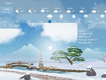 Awesome weather YoWindow live weather wallpaper v2.28.2 screenshots 19