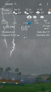 Awesome weather YoWindow live weather wallpaper v2.28.2 screenshots 7