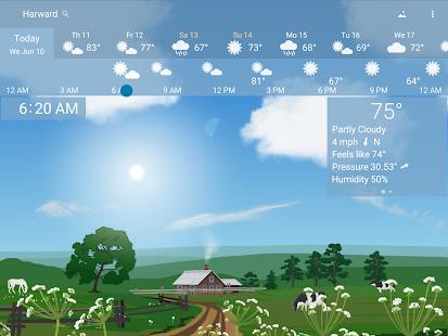 Awesome weather YoWindow live weather wallpaper v2.28.2 screenshots 8