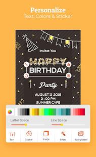 Birthday Invitation Maker Invitation Card Maker v1.0.7 screenshots 3