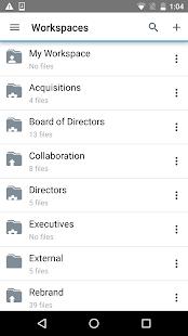BlackBerry Workspaces v screenshots 1