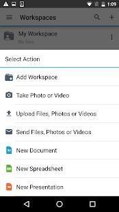 BlackBerry Workspaces v screenshots 2