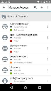 BlackBerry Workspaces v screenshots 5