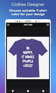 Clothes Designer T-shirt Design amp Clothes Maker v1.1.7 screenshots 7