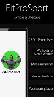 Fitness Trainer FitProSport v4.89 FREE screenshots 1