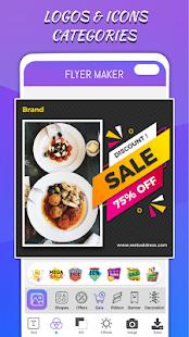 Flyers Posters Ads Page Designer Graphic Maker v4.0 screenshots 3