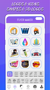 Flyers Posters Ads Page Designer Graphic Maker v4.0 screenshots 4