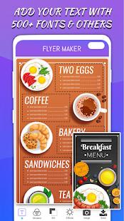Flyers Posters Ads Page Designer Graphic Maker v4.0 screenshots 6