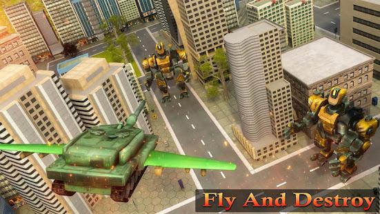 Flying Air Robot Transform Tank Robot Battle War v1.1.2 screenshots 3