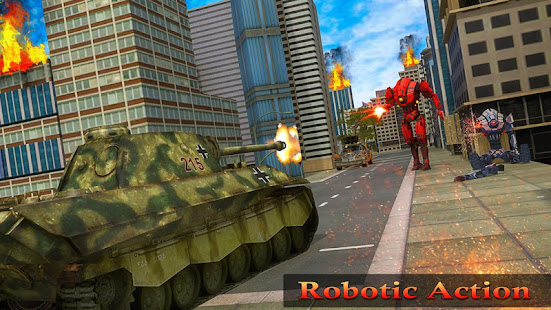 Flying Air Robot Transform Tank Robot Battle War v1.1.2 screenshots 6
