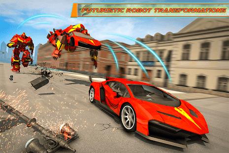 Flying Dragon Robot Car – Robot Transforming Games v2.6 screenshots 1