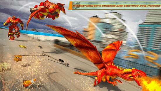 Flying Dragon Robot Car – Robot Transforming Games v2.6 screenshots 13