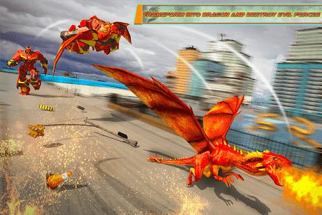 Flying Dragon Robot Car – Robot Transforming Games v2.6 screenshots 2
