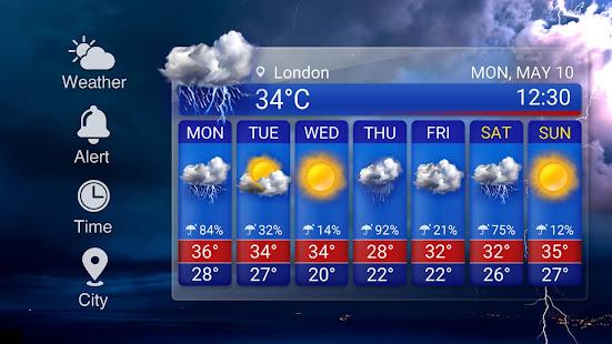 Free Weather Forecast App Widget v16.6.0.6365_50186 screenshots 12