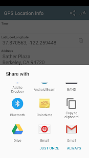 GPS Location – Share address v1.3.9 screenshots 3