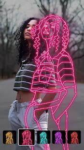 Instasquare Photo Editor Drip Art Neon Line Art v2.5.6.0 screenshots 1