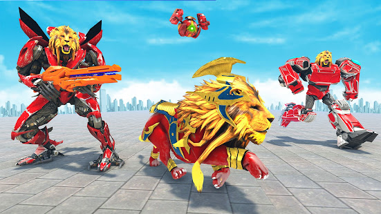 Lion Robot Game Bike Robot War v2.2 screenshots 12