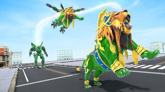 Lion Robot Game Bike Robot War v2.2 screenshots 4