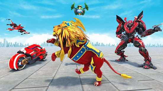 Lion Robot Game Bike Robot War v2.2 screenshots 8