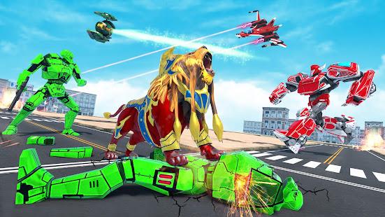 Lion Robot Game Bike Robot War v2.2 screenshots 9
