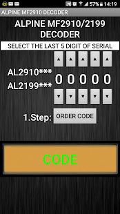 MF2910 Radio Code Decoder v1.0f screenshots 1