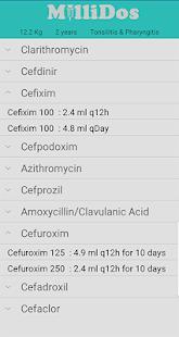 Millidos – Pediatric Drug Dosages v3.6 screenshots 3