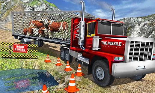 Offroad Farm Animal Truck Driving Game 2020 v1.9 screenshots 3
