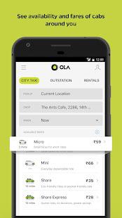 Ola Lite Lighter Faster Ola App. Book Taxi amp Cabs v3.1 screenshots 1