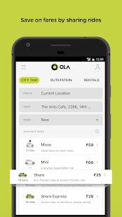 Ola Lite Lighter Faster Ola App. Book Taxi amp Cabs v3.1 screenshots 2