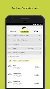 Ola Lite Lighter Faster Ola App. Book Taxi amp Cabs v3.1 screenshots 5