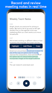 Otter Meeting Note Transcription Voice Recorder v2.1.56-2811 screenshots 4