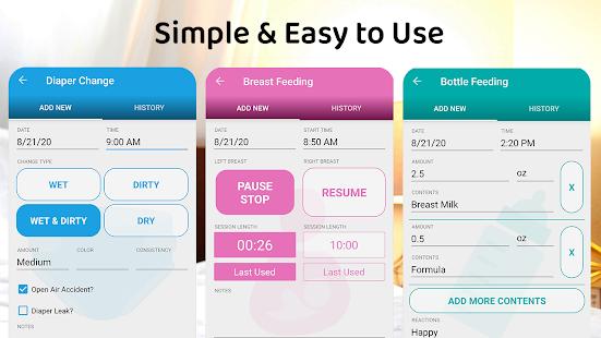 ParentLove Baby Tracker Feeding Breastfeeding v9.5.3 screenshots 2
