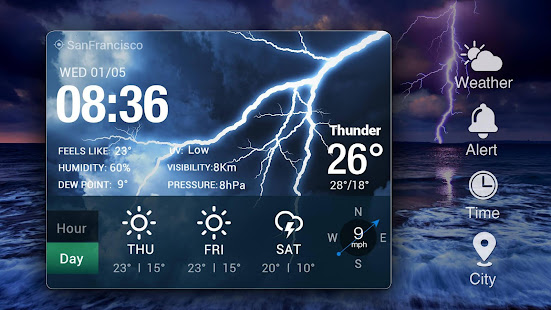 Real-time weather forecasts v16.6.0.6365_50185 screenshots 9