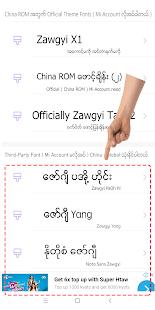 TTA Mi Myanmar Font Lite v5222021 screenshots 3