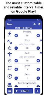 Tabata Timer Interval Timer Workout Timer HIIT v5.2.2 screenshots 1