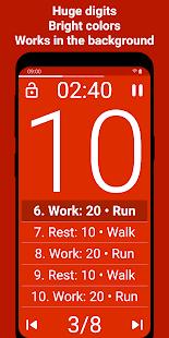 Tabata Timer Interval Timer Workout Timer HIIT v5.2.2 screenshots 2