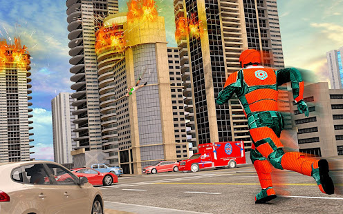 US Light Robot Speed Hero City Rescue Mission v1.0.21 screenshots 15