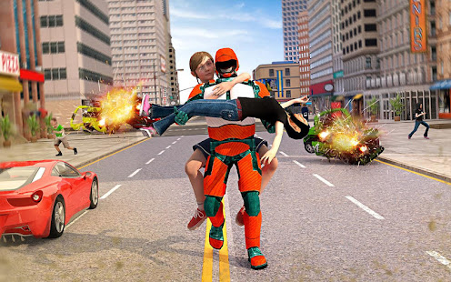 US Light Robot Speed Hero City Rescue Mission v1.0.21 screenshots 2