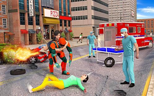US Light Robot Speed Hero City Rescue Mission v1.0.21 screenshots 8