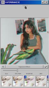Vaporgram Vaporwave VHS amp Glitch Photo Editor v screenshots 1