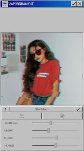 Vaporgram Vaporwave VHS amp Glitch Photo Editor v screenshots 5