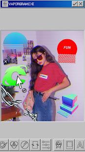 Vaporgram Vaporwave VHS amp Glitch Photo Editor v screenshots 6