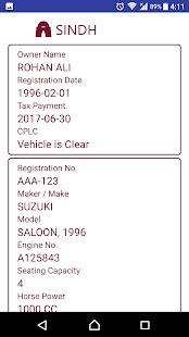 Vehicle Verification Pakistan v7.70 screenshots 5