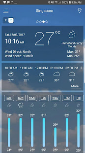 Weather app v5.8 screenshots 1